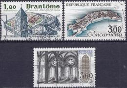 France 1983 - Mi 2381/404/408 - YT 2253/55 ( Turism Series ) - Gebraucht