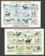 S110 !!! IMPERFORATE ANTIGUA & BARBUDA DOGS SMALL & LARGE BREEDS 2SH(24ST) MNH - Honden