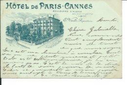 Cannes- Hôtel De Paris-Cannes-Boulevard D'Alsace - Cannes