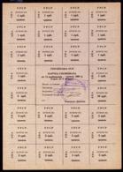 UKRAINE RUBLE CONTROL COUPON ZAPORIZHIA 75 KARBOVANTSIV May 1991 Unc - Ukraine