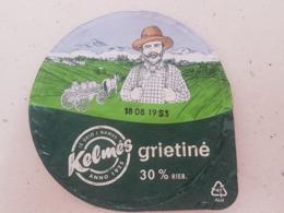 Lithuania  Sour Cream Top 2019 Horses - Milk Tops (Milk Lids)