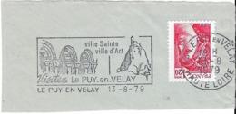 FRANCE. FRAGMENT POSTMARK LE PUY EN VELAY. 1979. FLAMME - Marcofilia (sobres)