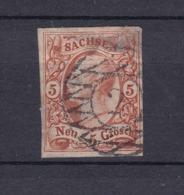Sachsen - 1856/63 - Michel Nr. 12 - Gest. - 80 Euro - Sachsen