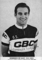 7161 Photo Repro. Cyclisme  Domenico De Lillo - Cyclisme
