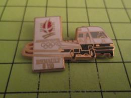 611b Pin's Pins / Beau Et Rare / THEME : JEUX OLYMPIQUES / ALBERTVILLE 1992 FOURGON RENAULT B110 - Jeux Olympiques