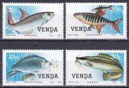 Venda Südafrika RSA 1987 Tiere Fauna Animals Fische Fish Poissons Peces Pesci Tigerfisch Tilapia Wels, Mi. 159-2 ** - Venda