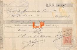 41-0852   1920 A SAINT BENOIT - M. DE SOUVILLE - Bills Of Exchange