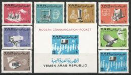 Yemen,Modern Communication 1966.,set+block,MNH - Yemen