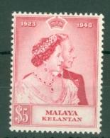 Malaya - Kelantan: 1948   Royal Silver Wedding   SG56    $5     MH - Kelantan