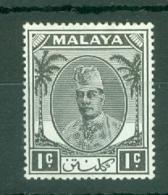 Malaya - Kelantan: 1951/55   Sultan Ibrahim    SG61    1c     MH - Kelantan