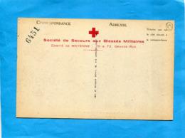 GUERRE 14-18-carte Mayenne Vue De L'hospice- CROIX ROUGE-  Profit De  Bléssés -carte LoterieN° 6451 - Laval