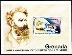 Grenada Grenade 1979 Yvertn° Bloc 78 *** MNH Cote 30 FF Jules Verne - Grenade (1974-...)