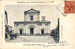 12291 - Barcellona Pozzo Di Gotto - Piazza S Sebastiano E Corso Garibaldi (Messina) F - Messina