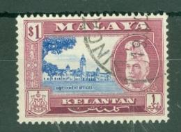 Malaya - Kelantan: 1957/63   Sultan Ibrahim - Pictorial    SG92    $1    Used - Kelantan