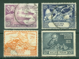Malaya - Perak: 1949   U.P.U.   Used - Perak