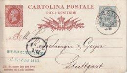 ITALIE 1879       ENTIER POSTAL/GANZSACHE/POSTAL STATIONERY CARTE DE MESSINA - 1861-78 Victor Emmanuel II.