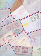 THAÏLANDE THAILAND Lot De 256 Enveloppes Affranchissement Machine Vignettes Stampless Meter Mail Covers Computer Labels - Thailand