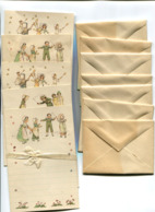 Boite De Papier à Lettres Illustrés + Enveloppes Papier Des Tout Petits - Andere Verzamelingen