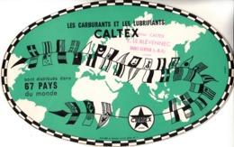 Thematiques Buvard Caltex Cachet Magasin Station  Saint Servan Y Le Blevennec Ille Et Vilaine - Idrocarburi