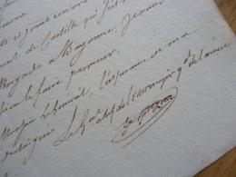 General EMPIRE (1813) Honoré GAZAN (1765-1845) BAYONNE. Vallée D'OSSAU. RGT De CASTILLE. AUTOGRAPHE - Autographes