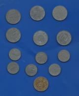 13 Pièces De Monnaies  Avec Croix - 1939-45