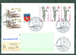 EUROPA - 20-04-74 STRASBOURG R 4664 Obl PJ Conseil De L'Europe Sur Série Europa - 1974