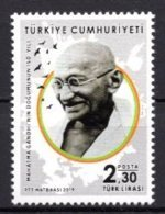 2019 TURKEY MAHATMA GANDHI 150TH BIRTH ANNIVERSARY MNH ** - 1921-... Republiek