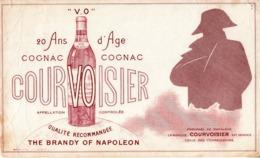 Thematiques Buvard Alcool Cognac Courvoisier 20 Ans D'Age Preférée De Napoléon Brandy Of Napoléon - Buvards, Protège-cahiers Illustrés
