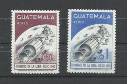 URUGUAY  YVERT  AEREO   449/50  MNH  ** - Guatemala