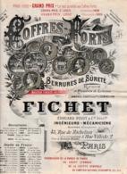 1907 COFFRES-FORTS FICHET - Paris - SERRURES DE SÛRETÉ - Prix Courant - Documenti Storici