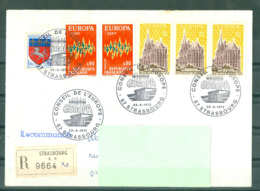 EUROPA - 22-04-72 STRASBOURG R 9664 Obl PJ Conseil De L'Europe Sur Série Europa - 1972
