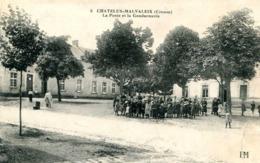 CHATELUX MALVALEIX   =   La Poste Et La Gendarmerie.   906 - Chatelus Malvaleix