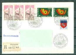 EUROPA - 14-04-73 STRASBOURG R 9813 Obl PJ Conseil De L'Europe Sur Série Europa - 1973