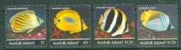 Norfolk Is: 1995   Butterflyfishes    MNH - Norfolk Island