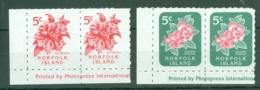 Norfolk Is: 1995   Flowers  SG600-601    MNH Pairs - Norfolk Island
