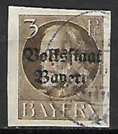 BAVIERE    -    1919.   Y&T N° 116 Oblitéré.  Non-dentelé - Bayern