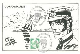 CARTOLINA - FILATELIA GIOVANE - CORTO MALTESE - ANNO 1991 - HUGO PRATT - 6. 1946-.. Repubblica