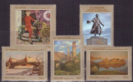 Russia,  2019, Modern Art, Painting, 5 High Value Stamps - 1992-.... Federation