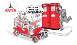Thematiques Buvard Avia Essence Super Pompe Pompiste Essence Enfants - Idrocarburi