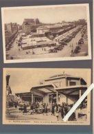 Nantes / Lot De 2 CP / Entrée Du Nouveau Marché De Talensac (1936) Architecte Vié - Nantes