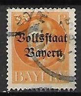 BAVIERE    -    1919.   Y&T N° 124 Oblitéré. - Bayern