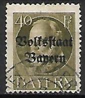 BAVIERE    -    1919.   Y&T N° 125 Oblitéré. - Bayern