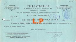41-1193   1911 L ILLUSTRATION R BASCHET A PARIS - M. SIGNORET - Lettres De Change