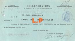 41-1197   1910 L ILLUSTRATION R BASCHET A PARIS - M. SIGNORET - Lettres De Change
