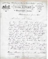 1901 - MALAUCENE (84) Service De DILIGENCE - Charbons De Bois - Ulysse RIPERT - Documents Historiques