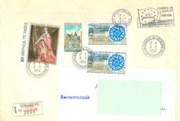 EUROPA - 06-05-74 STRASBOURG REC. 2091 Oblitération + Flamme Temporaire Du Conseil De L'Europe - 1974