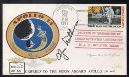 APOLLO 14 - ESPACE - USA / 1971 FAC SIMILE DE L'ENVELOPPE AYANT VOYAGE A BORD (ref LE3657) - Raumfahrt