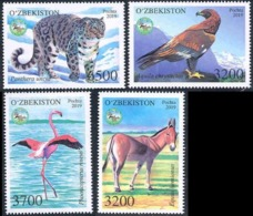 Uzbekistan. 2019  Fauna Of Uzbekistan. Mi 1365-68 - Sellos