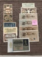 ALLEMAGNE: Bon Lot De 15 Billets. Dates: 1910/1923 (dont 1 Billet Fauté SPL) - Autres