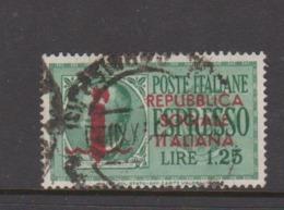 Italy Repubblica Sociale Italiana E 6 1944 Special Delivery Lire 1.25 Green,used - 4. 1944-45 Social Republic
